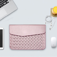 Luxury Durable Waterproof Weaving PU Leather Case For Macbook Air Retina 11 12 13 15 Fashion