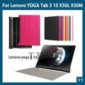 """Роскошные для Lenovo йога планшет 3 чехол 10 """" дюйма, Флип искусственная кожа стенд чехол для Lenovo йога tab 3 10 чехол + бесплатных 2"""