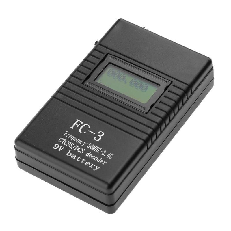 FC-3 LCD Display 50MHz-2.4GHz Handheld Digital Frequency Counter Radio Testing Frequency Meter for DCS and CTCSS Testing