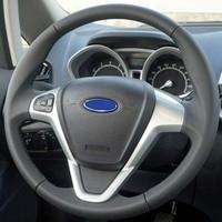 Noir En Cuir Véritable Couverture De Volant de Voiture pour Ford Fiesta 2008-2014 Ecosport 2013 2017 voiture-couvre pour volant