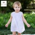 DB138 dave bella summer baby girls  fairy dress infant dress girls lolita dress  toddle 1 pc kid princess butterfly dress
