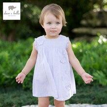 DB138 dave bella été bébé filles fée robe infantile robe filles lolita robe toddle 1 pc kid princesse papillon robe