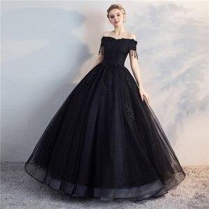 Image 3 - Pani Win Quinceanera sukienki Prom z krótkim rękawem klasyczna Off The Shoulder szlachetna suknia balowa z aplikacjami Party wieczorowa suknia na studniówkę