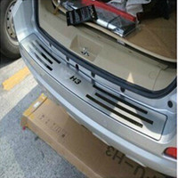 Stainless Steel Rear Bumper Protector Sill Fit For 2009 2012 Great Wall Haval Hover H3 Car