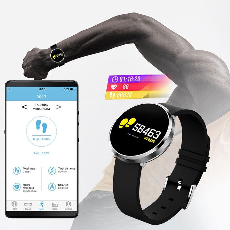 Montre intelligente Bluetooth Android IOS Smartwatch appel téléphonique rappel Calories moniteur de fréquence cardiaque Bracelet de marque BOAMIGO - 3