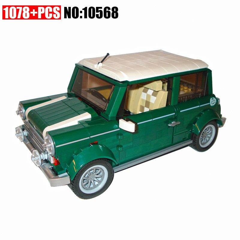 10568 1079 pçs técnica mini cooper blocos de construção compatível 10242 engraçado brinquedos educativos tijolo para crianças