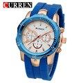 Curren Mens reloj Top Luxury Brand banda de silicona hombre relojes deportivos resistencia a los golpes de cuarzo Masculino Relogio del reloj