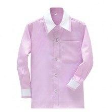 Brand New Boy Cotton Shirts Custom Made  Children Wedding/Dinner/Evening Long Sleeve Kid Shirt CS26