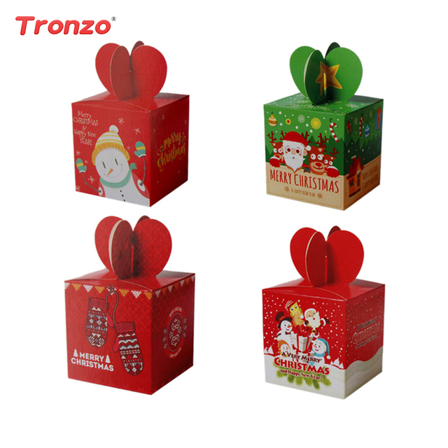 tronzo 48 pcs christmas candy box christmas decorations for home paper packaging boxes santa - Christmas Candy Boxes