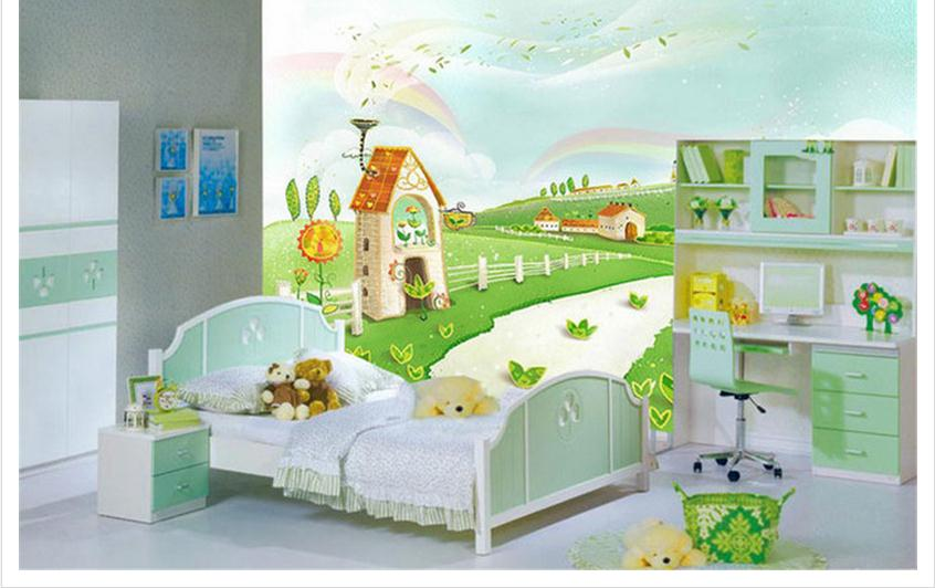 Kids Bedroom Background customized 3d wallpaper 3d kids wallpaper cartoon castle