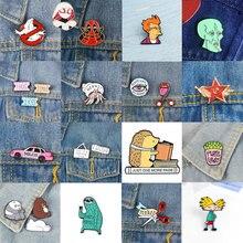 Аниме металлическая брошь воротник сплав броши джинсы рубашка Сумочка нашивки на рюкзаке булавки мультфильм