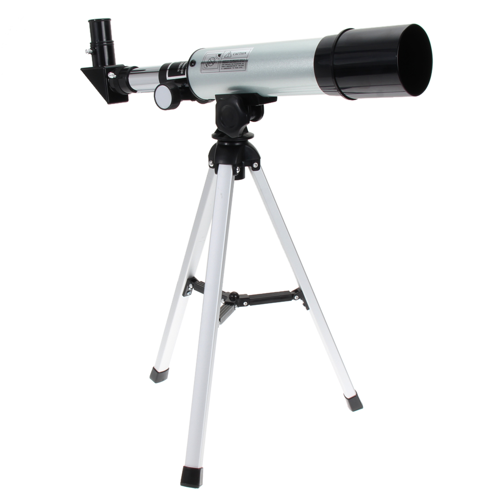 F36050M 360/50mm Refractive Outdoor Monocular Astronomical Telescope With Portable Tripod Spotting Scope Silver High Quality bosma 80 900 astronomical telescope monocular equatorial refractive fully coated telescope with portable tripod w2358b