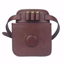 Tourbon Hunting Gun Accessories Rifle Cartridges Bag Shooting Shells Shotgun Ammo Leather Pouch Case Durable Large Capacity