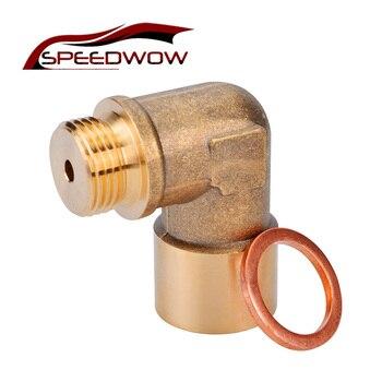 SPEEDWOW 90 stopni m18x1, 5 O2 sonda lambda przedłużacz czujnika tlenu Spacer dla Decat wodoru mosiądzu