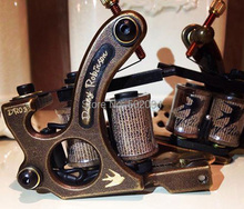 Getbetterlife Copper Tattoo Machine Gun With 10 Wrap Coils For Liner Packed In Beautiful Box Supplies MCC02