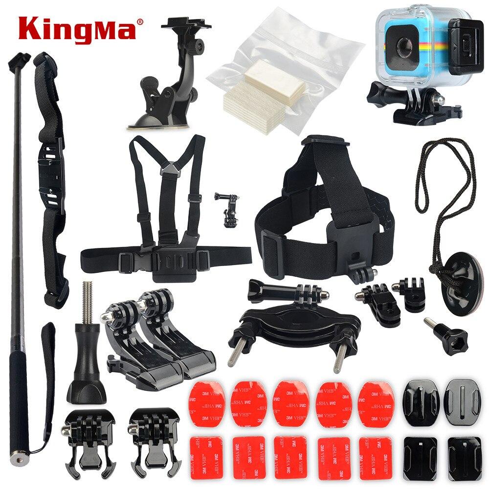 KingMa For Polaroid Cube Waterproof Case 14-in-1 Accessories Kit for Polaroid Cube and Cube+ Accesorios set