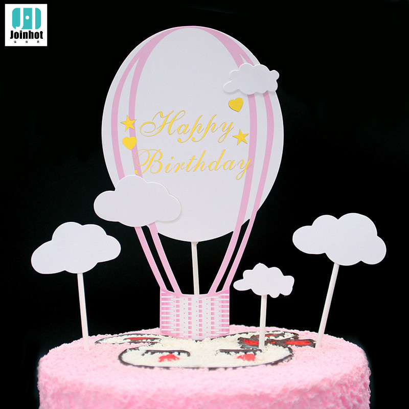 Super Hot Air Balloon Cake Topper Up Up And Away Party Decor Places You Personalised Birthday Cards Veneteletsinfo