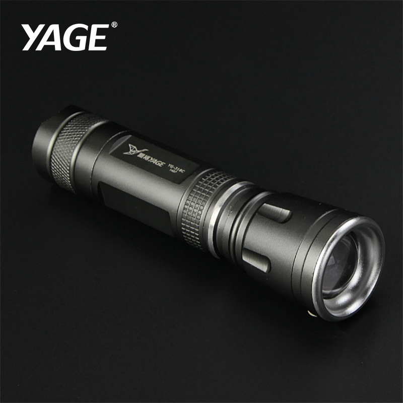YAGE Oppladbar Cree Led Lommelykt Zoomable Lanterna Tactical Lommelykter Mini Liten Flash Light 18650 Lampe Touche Linternas
