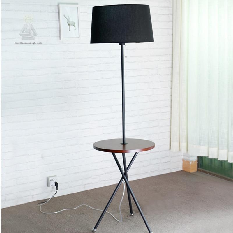 moderne houten tafel vloerlamp 5 w led lamp woonkamer slaapkamer