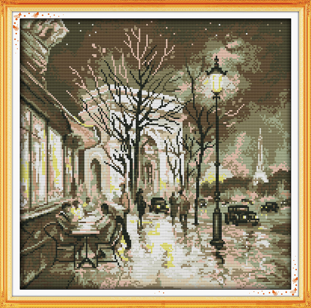 Everlasting love The beauty of the night Chinese cross stitch kits Ecological cotton stamped DIY Christmas decorations for home