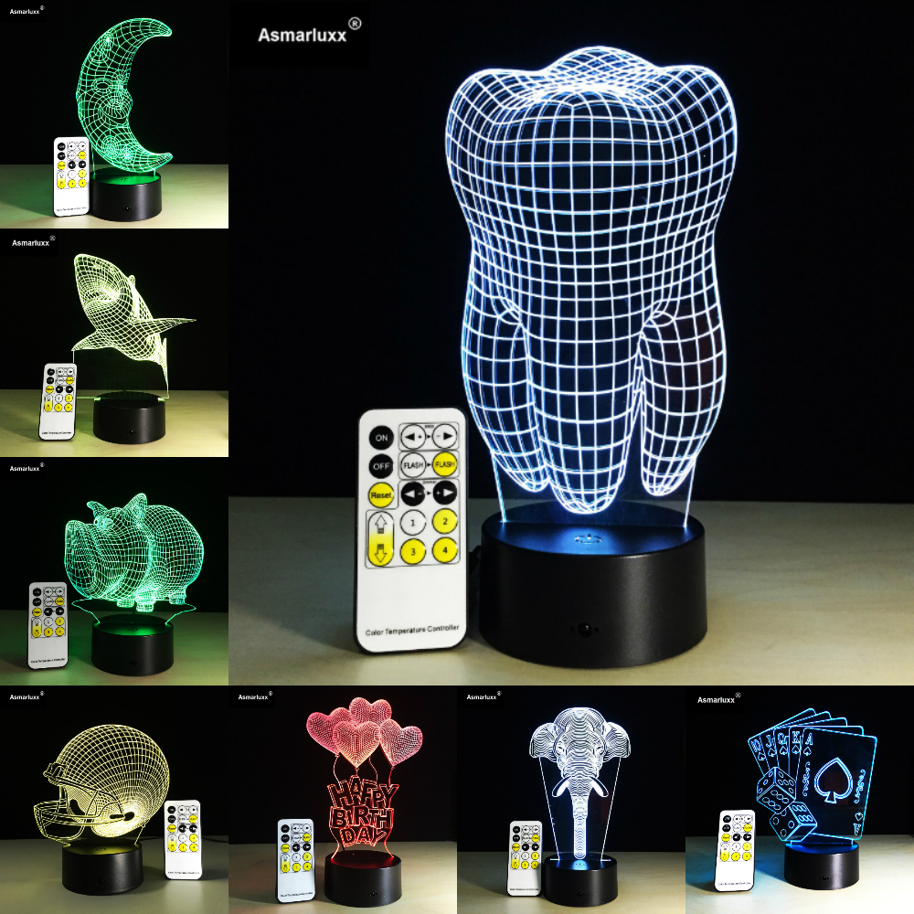 Remote Control 3D Visual Illusion Light 7 Color Kids Sleeping Atmosphere Light Colorful LED Lamp Toy Birthday Holiday Party GiftRemote Control 3D Visual Illusion Light 7 Color Kids Sleeping Atmosphere Light Colorful LED Lamp Toy Birthday Holiday Party Gift