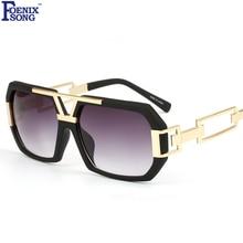 FOENIXSONG Top Brand New Goggle Steampunk Square Sunglasses Female Men Sun Glasses Women Retro UV400 Gafa Oculos de sol FDY97151