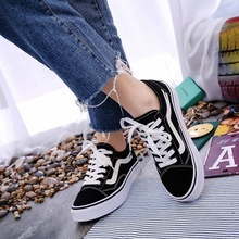 High Quality Classic Women Canvas Shoes Lace Up Flats