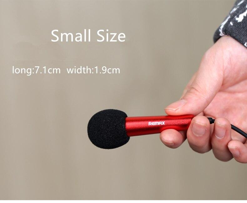Human - Remax Mini portable Sing Song Karaoke Microphones speaker
