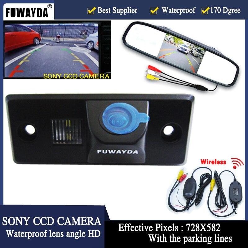Caméra de recul de voiture SONY CCD de LED avec moniteur de rétroviseur de voiture pour Volkswagen VW CAYENNE TIGUAN TOUAREG POLO PORSCHE