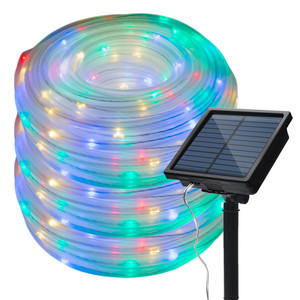 Image 5 - 10M LED Solar Powered String Fairy Light Copper wire Tube Light Outdoor Decorative Holiday Lighting For Garden Street House Tree