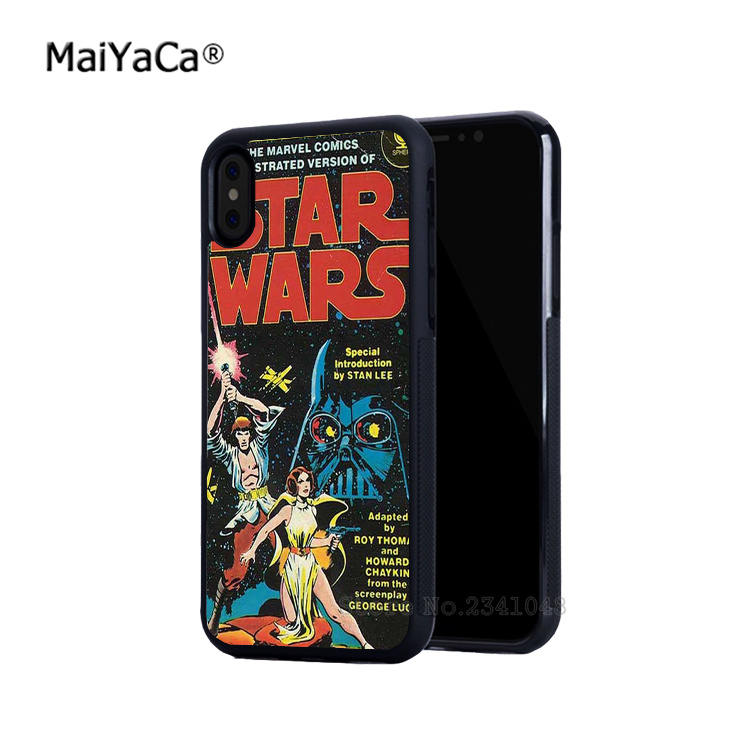 Star wars capa filme silicone borda macia casos de telefone móvel para iphone 5s se 6 6s plus 7 mais 8 8plus x xr xs max