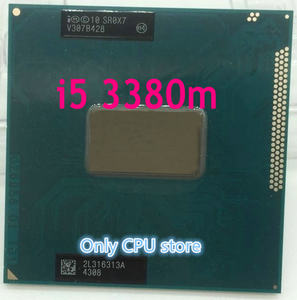 Original intel Core i5 3380M 2.9 GHz 3M Dual Core SR0X7 I5-3380M Notebook processors Laptop CPU PGA 988 pin Socket G2 processor