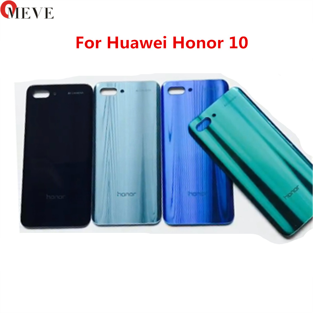 For Huawei honor 10 COL-L29 Back Battery Cover Rear Glass Panel Door Housing Case Repair Replacement Part image