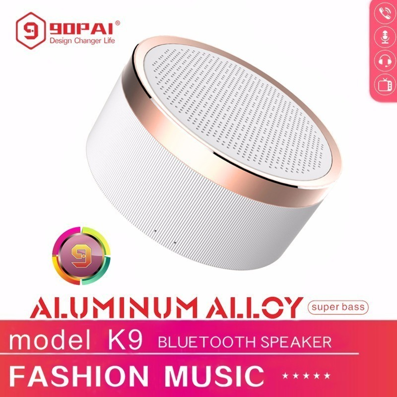 90PAI 4.2 Bluetooth Portable Wireless Speaker Aluminum Hands-Free Call Support USB TF Card Subwoofer Music Play Loudspeaker Hot