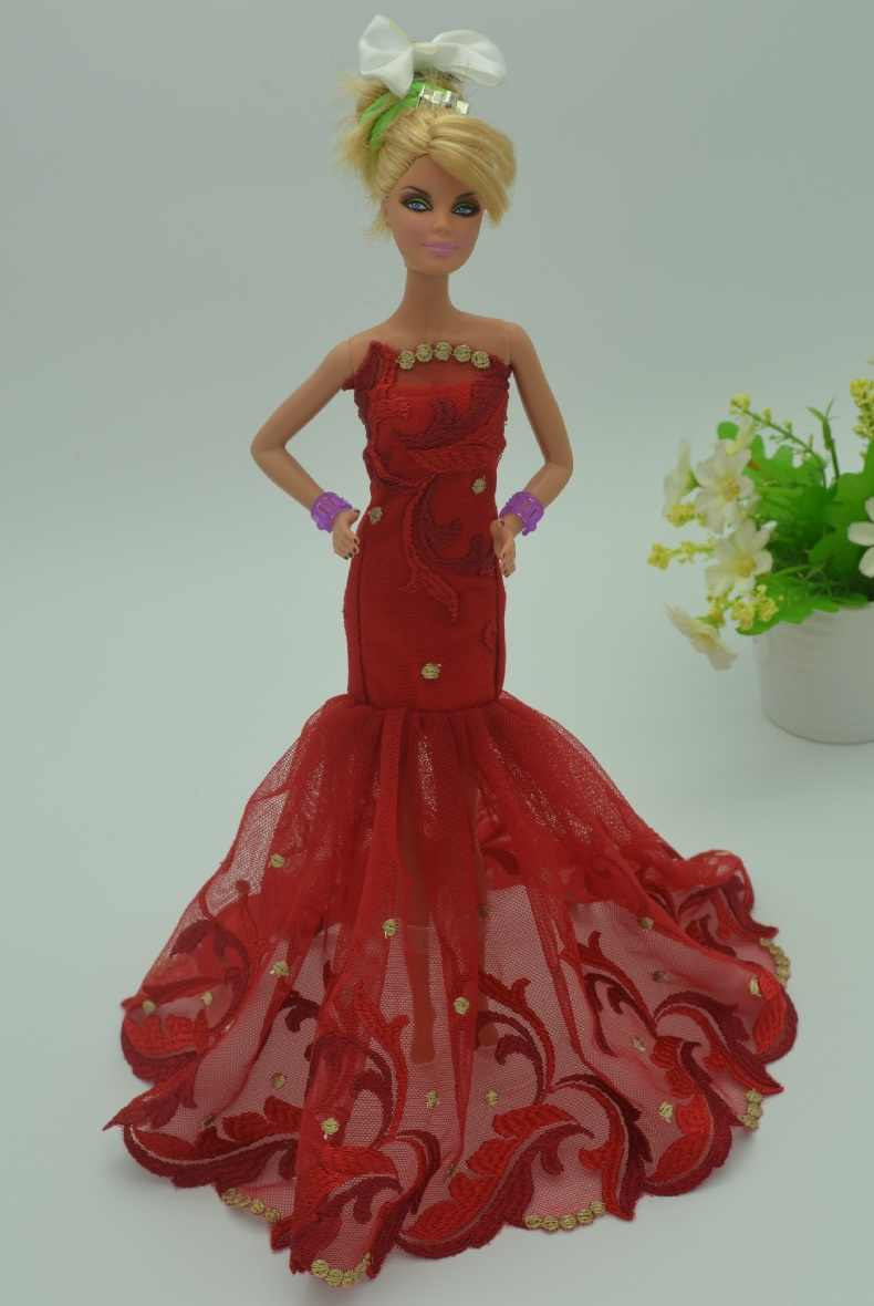 lot of for Barbie original doll clothes children clothing can pretty  fashion wedding dresses casual dress dc25c5fcfb56