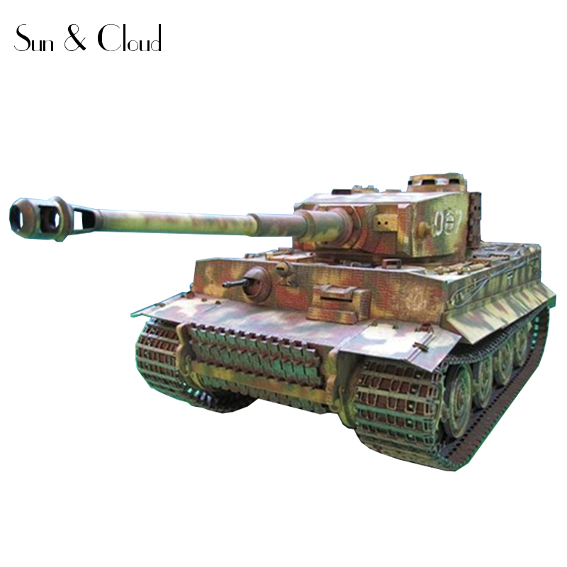 1:25 DIY 3D Germany Tiger Tank GPM Version High definition Paper Model Assemble Hand Work Puzzle Game DIY Kids Toy
