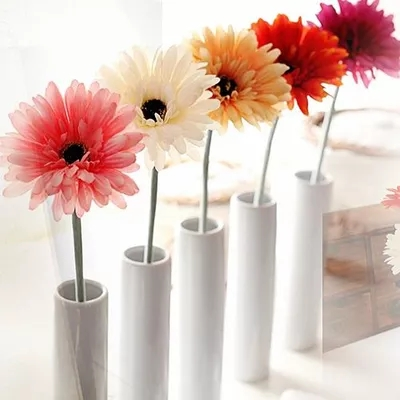 Silk Flower Wedding-Decoration Natural-Gerbera Cheap