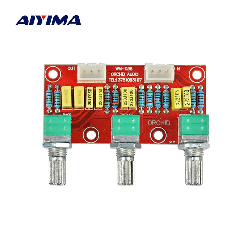 Aiyima HIFI Amplificateur Passif Ton Conseil Bass Treble Volume Contrôle Pré-amplificateur Préampli Conseil