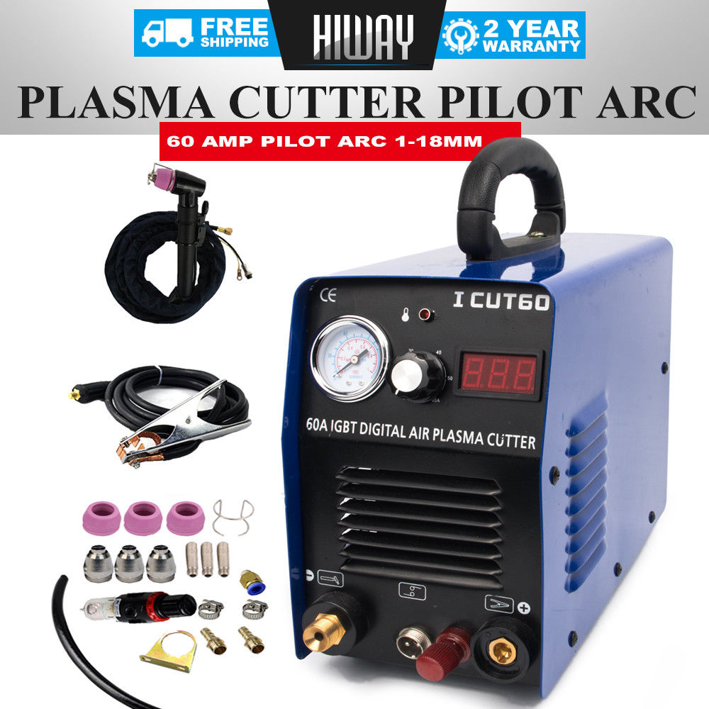 Tosense Cut60P IGBT ARC 60A AIR PLASMA CUTTER WSD-60 Plasma Cutting PILOT 110/220V COMPATIBLE