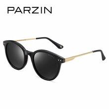 PARZIN Brand Polarized Women Sunglasses Classic Retro Round Metal Frame Fashion Colors Lens Shield Anti UV400 High Quality 9655