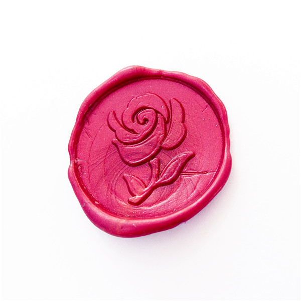 Rose Wax Seal Stamp flower Sealing Wax Stamp Kit Rose Wax Stamp Custom Wedding Invitation Wax Seal Kit Personalized elegant flower lace lacut cut wedding invitations set blank ppaer printing invitation cards kit casamento convite pocket