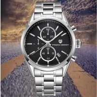 Relojes de Cuero cronógrafo de marca de lujo de diseño PAGANI reloj militar de cuarzo resistente al agua para hombre