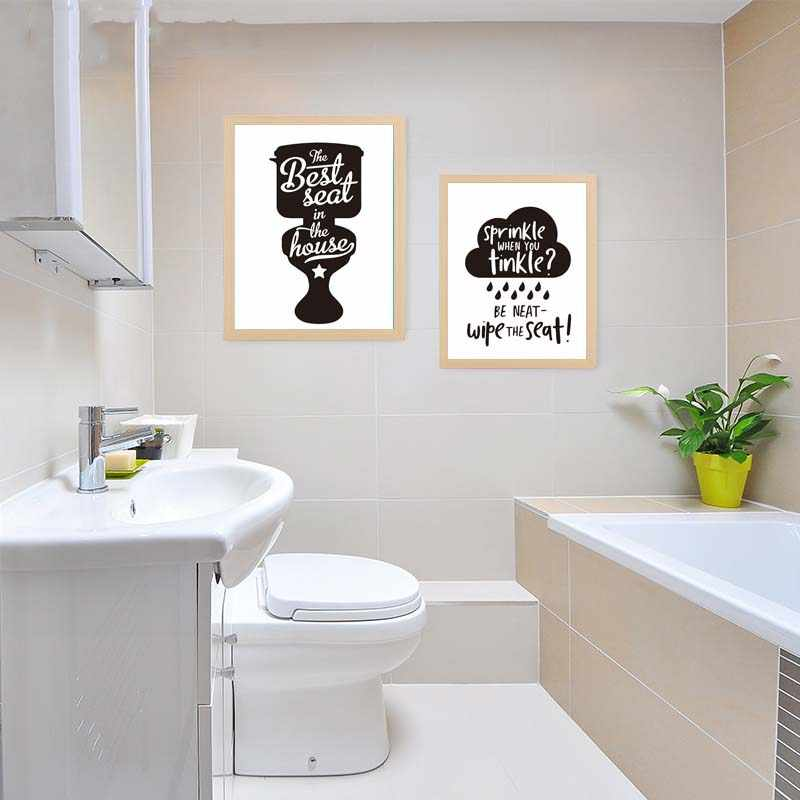 Posters And Prints Modern Canvas Painting Modular Toilet Bathroom Note Picture For Restroom Washroom Home Decor Wall Art Mural