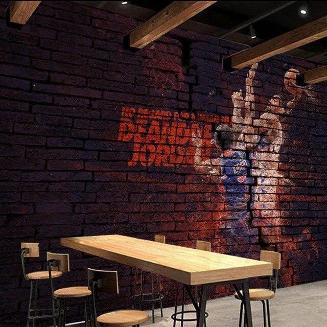Custom Size Photo Wallpaper Basketball Star Bedroom Living Room Indoor Basketball  Court Papel Mural Wallpaper