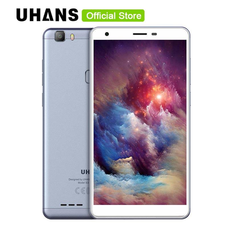 bilder für Uhans S3 6,0 Zoll IPS HD Handy 16 GB ROM 1 GB RAM Fingerprint ID 13MP + 5MP Kamera MTK6580A Quad Core Moive Spiel Smartphone