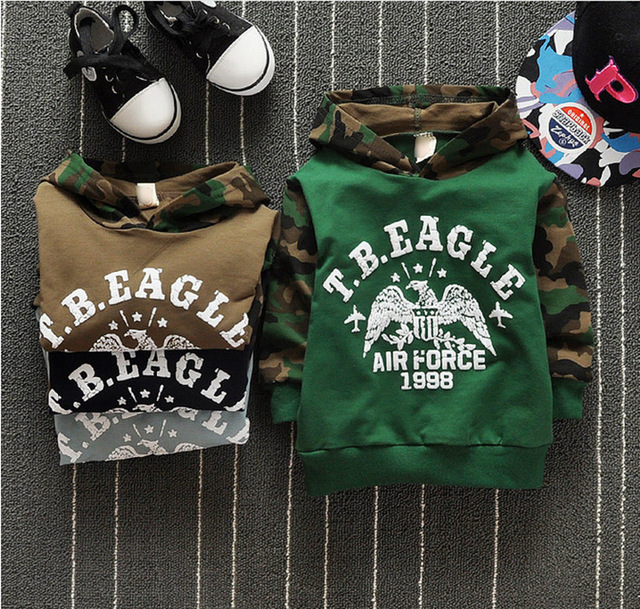 Spring Children's Sweatshirts 100% Cotton Boys Girls Camouflage Hoodies 1-3 Years Kids Baby Boys&Girls Sweatshirt Infant Clothes