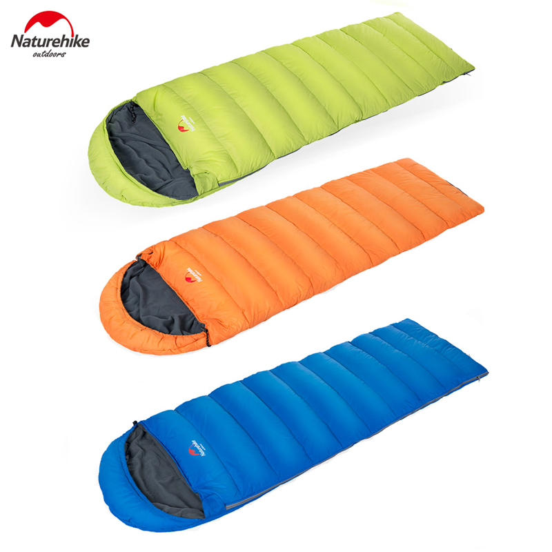 все цены на Naturehike Envelope Sleeping Bag Camping sleeping bags down feather NH15S007-D
