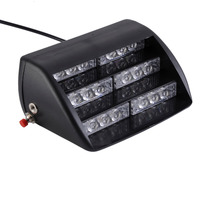18 LED 4 6W Front Rear Glass Sucker Super Bright Flash Strobe Car Lights Staircase Warning