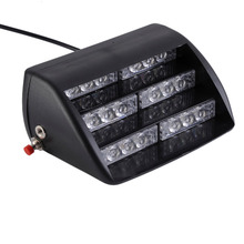 18 LED 4-6W Front Rear Glass Sucker Super Bright Flash Strobe Car Lights Staircase Warning Yellow Lighting Vechicle Emergency