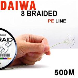 Image 3 - DAIWA 8 Gevlochten Vislijn Lengte: 500 m/550yds, 30 80lb, Diameter: 0.2mm 0.35mm Japan PE gevlochten lijn J Vlecht Lijn ZEE VISSEN